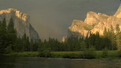 Storm over Yosemite Valley - stock footage