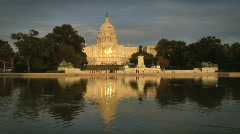 US Capitol Building with Reflecting Pool - stock footage