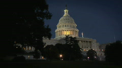 Capitol Building at Night  Stock Footage
