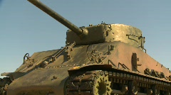 Military, sherman tank Stock Footage