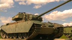 Military, centurion tank Stock Footage