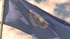 Flag, United Nations flag Stock Footage