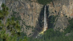 Horsetail Falls in Yosemite National Park Stock Footage