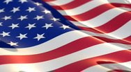 USA flag - seamless loop Stock Footage