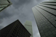 Buildings and Dramatic Clouds Time Lapse Stock Footage