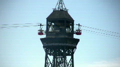 Cableway tower, Barcelona - stock footage