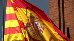 Catalan Flag fluttering Stock Footage
