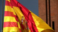 Stock Video Footage of Catalan Flag fluttering