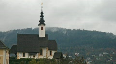 Small Church in Austria Stock Footage