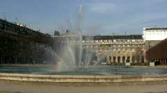 Fountain at Palais Royale, Paris. Stock Footage