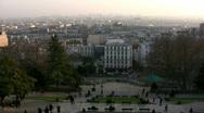 Paris skyline at sunset. Stock Footage