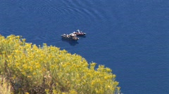 boats on Crater Lake - stock footage