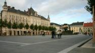 Stock Video Footage of Town square in Austria. time lapse.