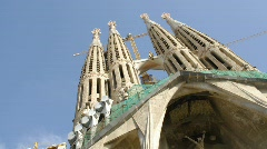 Stock Video Footage of La Sagrada Familia, Barcelona.