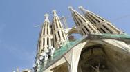 La Sagrada Familia, Barcelona. Stock Footage