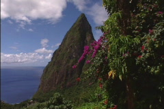 Piton Mountains in St. Lucia - stock footage
