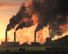 Big plant industry and pollution DV - stock footage