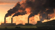 Stock Video Footage of Big plant industry and pollution DV