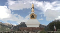 Stupa time lapse 2 crestone colorado Stock Footage