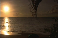 Caribbean Bay from the Beach - stock footage