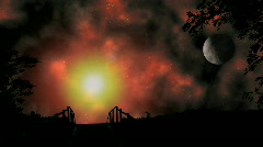 Mystical Heavens Landscape Stock Footage