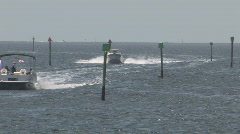 Boats in Gulf of Mexico - stock footage