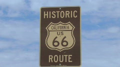Route 66 Sign with Clouds - stock footage
