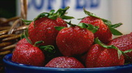 Stock Video Footage of StrawberriesCU