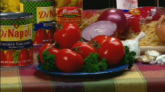 TomatoesCU zoom Stock Footage