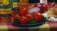Stock Video Footage of TomatoesCU zoom