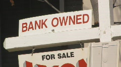 Bank owned sign - stock footage