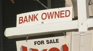 Stock Video Footage of Bank owned sign