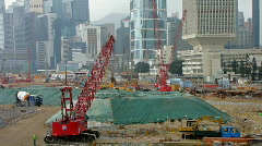 CONSTRUCTION SITE HONG KONG Stock Footage