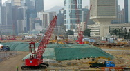 Stock Video Footage of CONSTRUCTION SITE HONG KONG