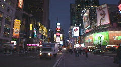 NYC Times Square night north Stock Footage