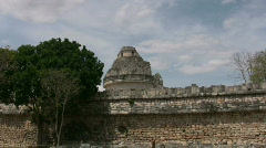 Observatory at Chichen Itza - stock footage
