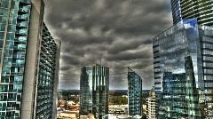 CloudsBetweenBuildings - stock footage