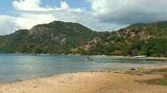 Malawi: beach, lake and hill - stock footage