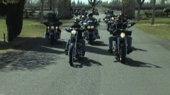 Harley Gang  Stock Footage