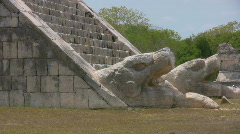 Maya temples at Chichen Itza - stock footage