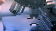 Stock Video Footage of microscope closeup