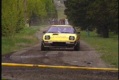 Motorsports, Rally racing, Mazda RX7, #1 Stock Footage