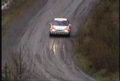 Motorsports, Rally racing, Mazda 323 Stock Footage