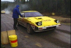 Motorsports, Rally racing, Mazda RX7, #2 Stock Footage