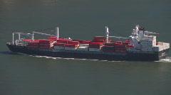 Cargo Ship and Golden Gate Bridge - stock footage