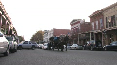Old Town Stagecoach Stock Footage