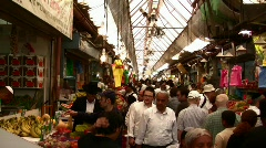 Stock Video Footage of Mahane Yehuda Market in Jerusalem