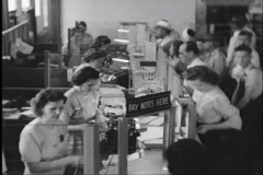 40s bank interior Stock Footage