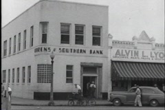 40s bank Stock Footage