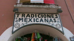 Mexican Souvenirs Stock Footage